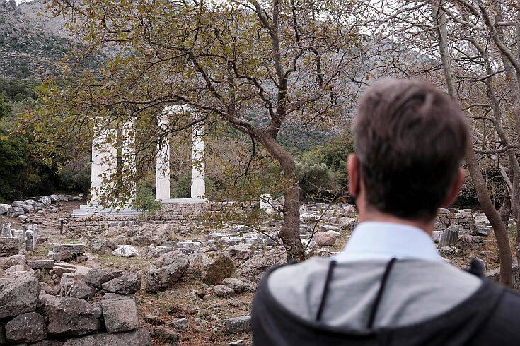 Σαμοθράκη: Ο Κυριάκος Μητσοτάκης επισκέφτηκε το Κάστρο της Χώρας