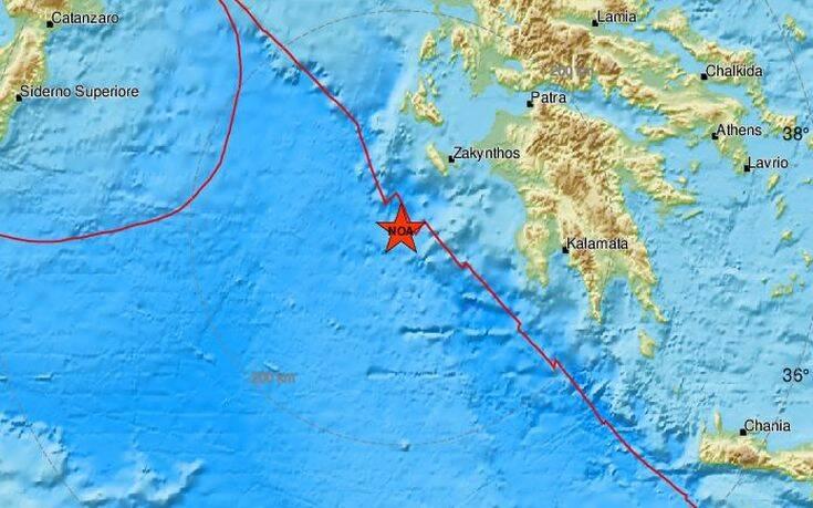 Σεισμός τώρα νότια της Ζακύνθου