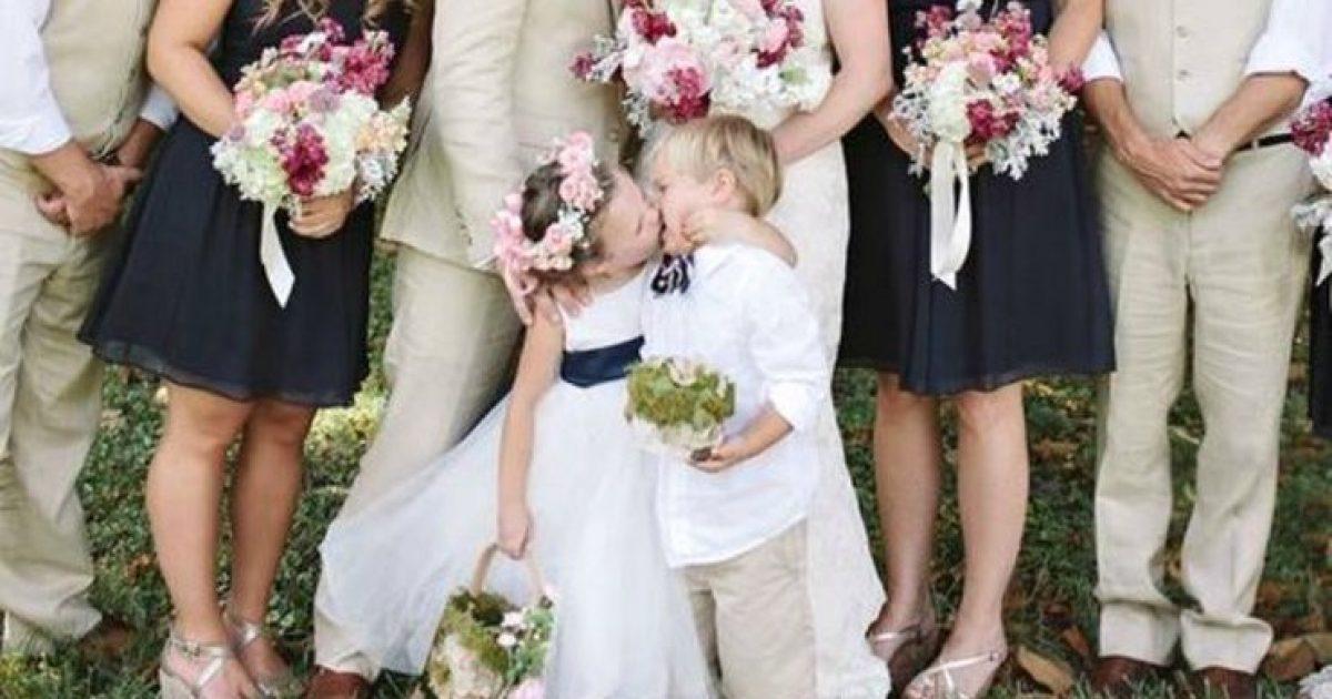 Ο γαμπρός να φιλήσει τη νύφη, είπε η φωτογράφος. Και το παρανυφάκι υπάκουσε.