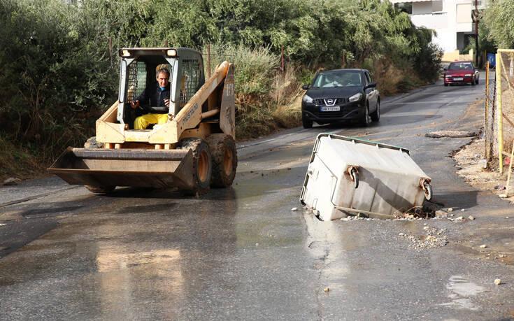 Σοβαρά προβλήματα και καταστροφές από τις ισχυρές βροχοπτώσεις στην Κρήτη