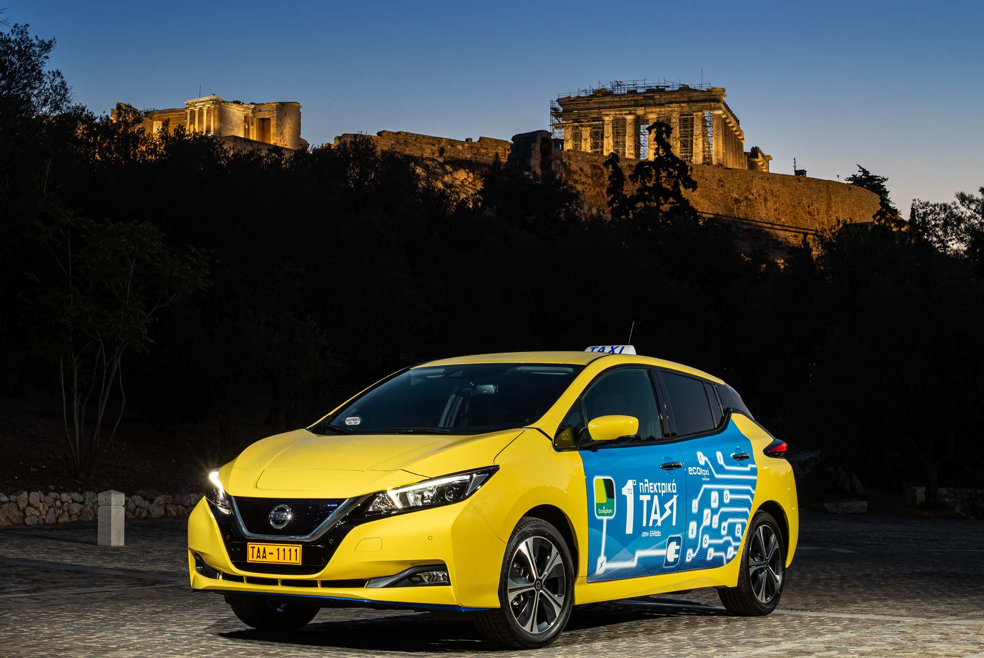 Nissan και Taxiplon κυκλοφορούν το πρώτο αμιγώς ηλεκτρικό ταξί στην Ελλάδα!