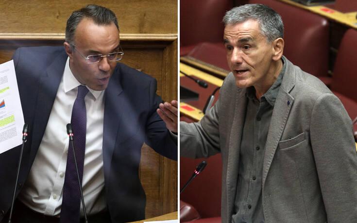 Ανέβηκαν οι τόνοι μεταξύ Σταϊκούρα και Τσακαλώτου στη Βουλή για τους ηλεκτρονικούς πλειστηριασμούς