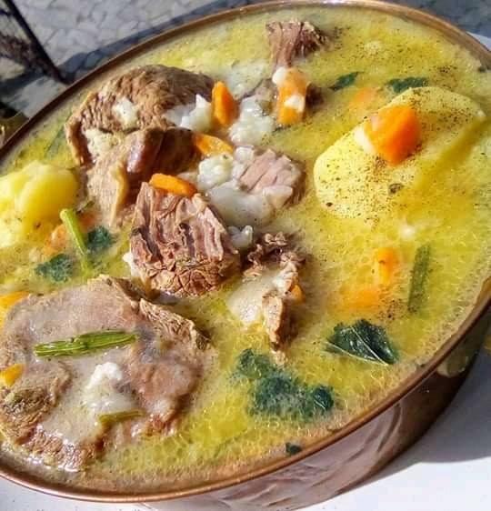 Κρεατόσουπα με λαχανικά και μοσχάρι !!!