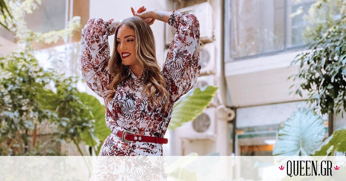 H Αθηνά Οικονομάκου είναι ο λόγος για να αγαπήσεις τα floral ρούχα