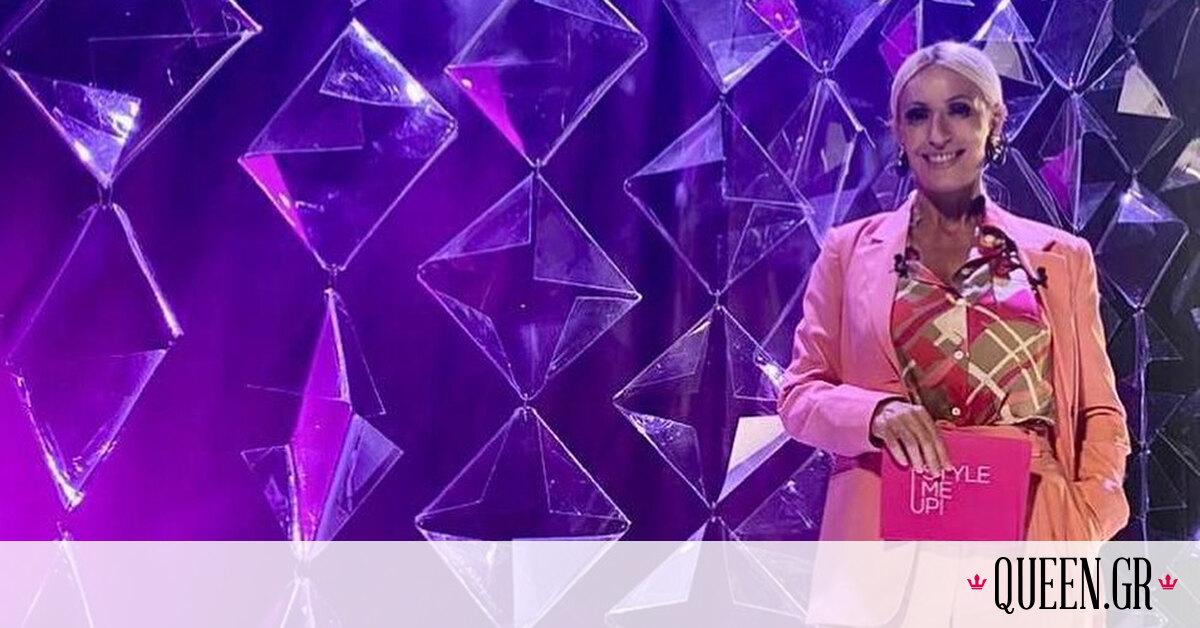 H Μαρία Μπακοδήμου αγαπά τις ροζ αποχρώσεις και αυτό βγαίνει προς τα έξω