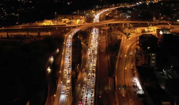 Εντυπωσιακό βίντεο από την κίνηση στους δρόμους της Αθήνας πριν το lockdown