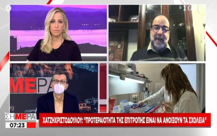 Χατζηχριστοδούλου: Κάτω από 1% ο δείκτης μεταδοτικότητας