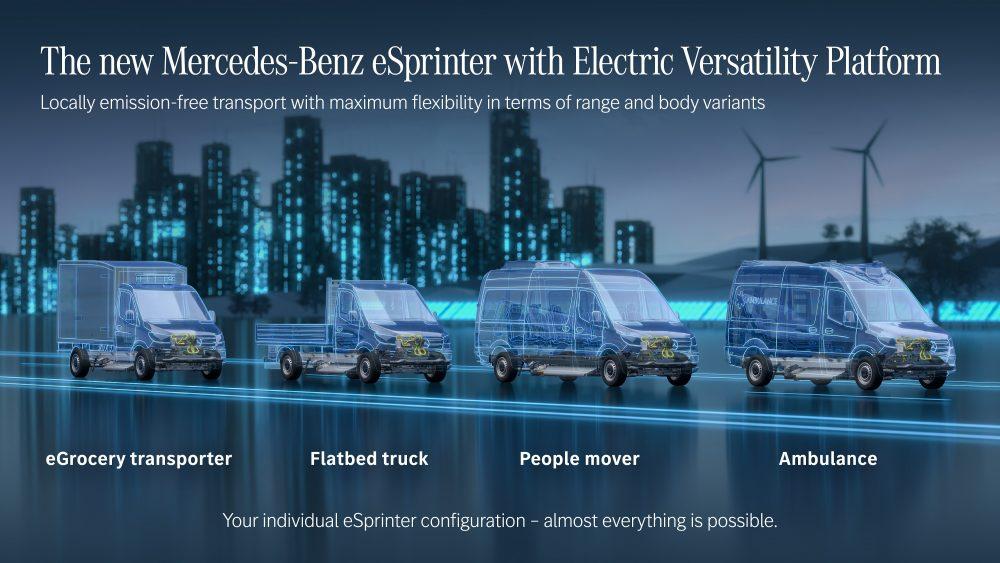 «Electric Versatility Platform» για την επόμενη γενιά του eSprinter