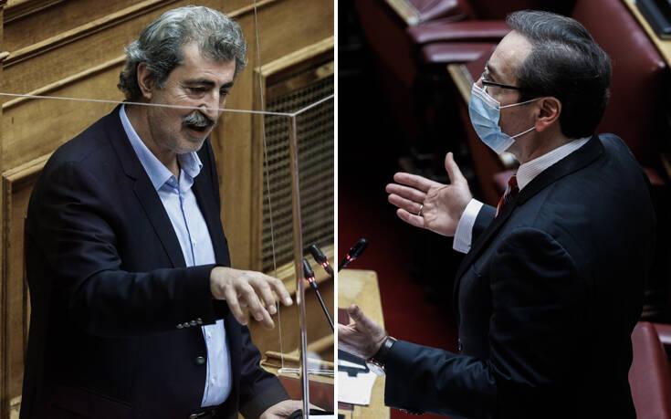 Χαμός στη Βουλή: Έντονος διάλογος μεταξύ Πολάκη και Μπουγά με αναφορές σε ναζί
