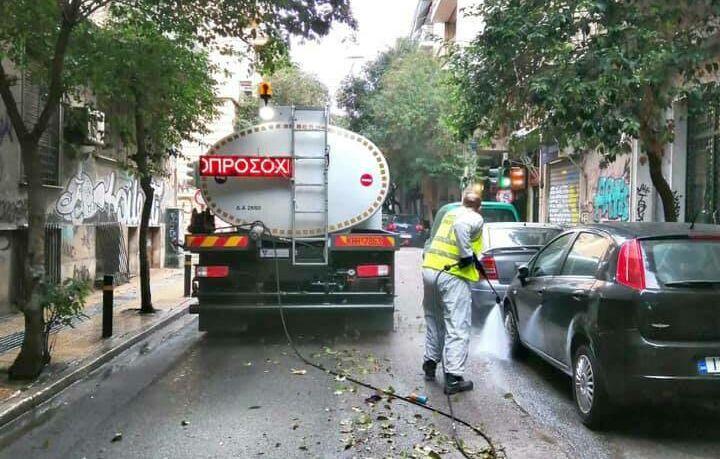 Στην Κυψέλη η πρώτη μεγάλη επιχείρηση καθαριότητας του Δήμου Αθηναίων για το 2021