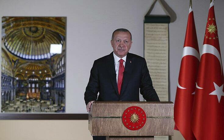 Η πρώτη πρόκληση Ερντογάν για το 2021: «Η Αγία Σοφία είναι το στέμμα του 2020»