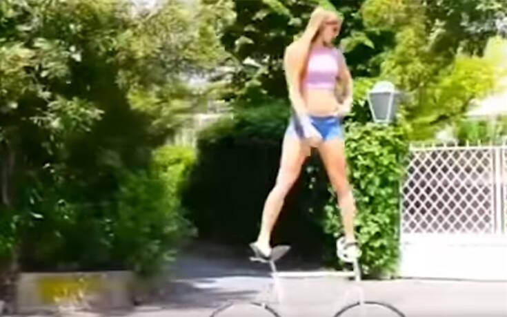 Η 26χρονη που κάνει μοναδικό ακροβατικά πάνω σε ποδήλατο