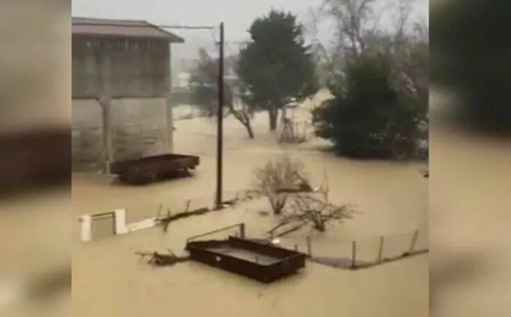 Εικόνες κατακλυσμού από την Ευκαρπία Σερρών – Σε απόγνωση οι κάτοικοι