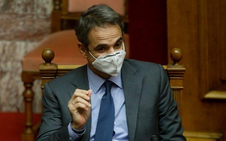 Ενημέρωση της Βουλής από Μητσοτάκη για την κυβερνητική πολιτική στη διαχείριση της πανδημίας
