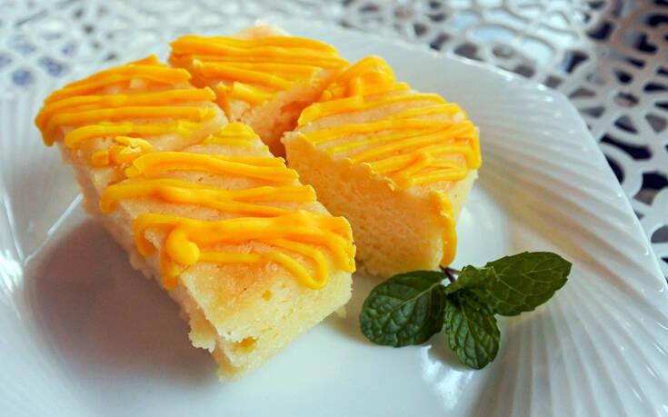 Brownies λεμονιού με καρύδα