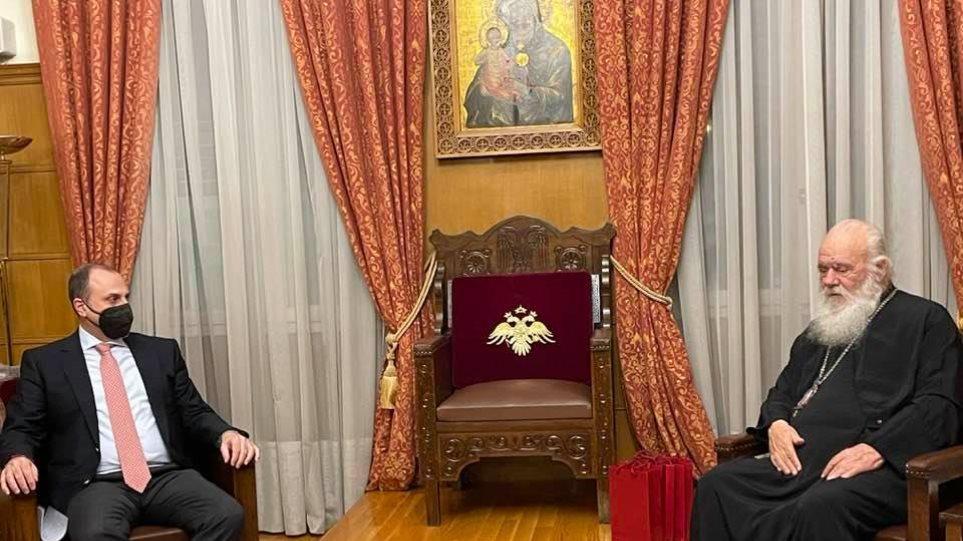 Συνάντηση Καραγιάννη με Ιερώνυμο: Επί τάπητος η εξέλιξη των έργων στην Ιερά Αρχιεπισκοπή Αθηνών