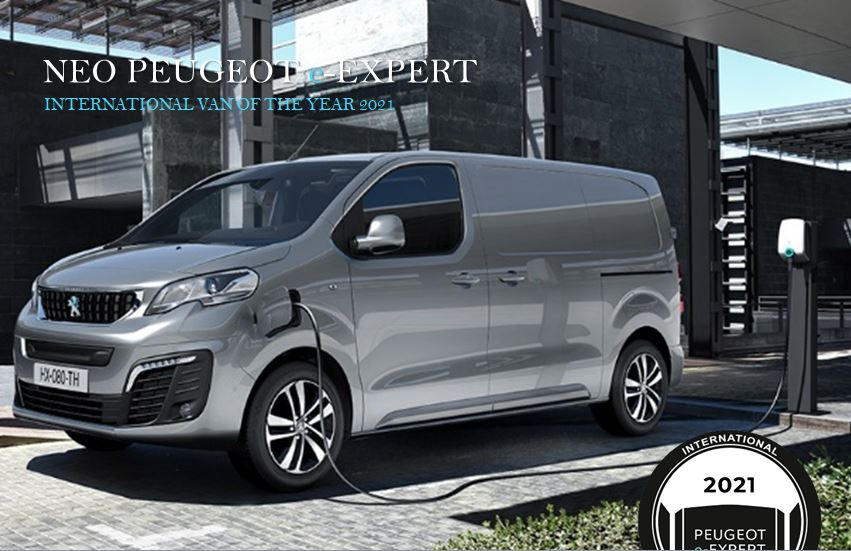 "To νέο PEUGEOT e-EXPERT αναδείχθηκε ""Van of The Year 2021"""