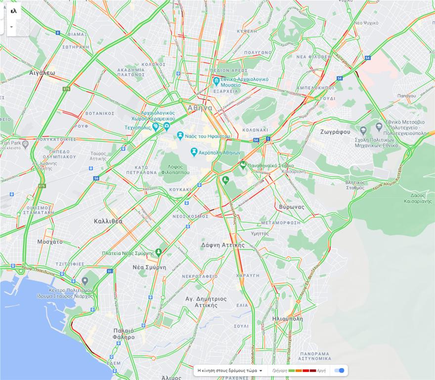 Κίνηση στους δρόμους:  Καθυστερήσεις στη λεωφόρο Ποσειδώνος, στο ύψος του Αλίμου