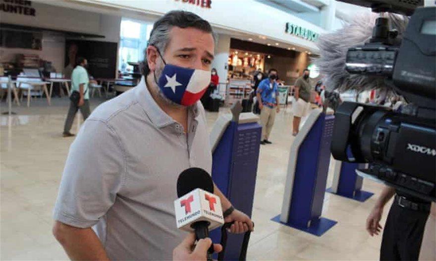 ΗΠΑ: Οργή για τον γερουσιαστή Τεντ Κρουζ – Πήγε διακοπές στο… Μεξικό την ώρα που ο χιονιάς «χτυπούσε» την πολιτεία του