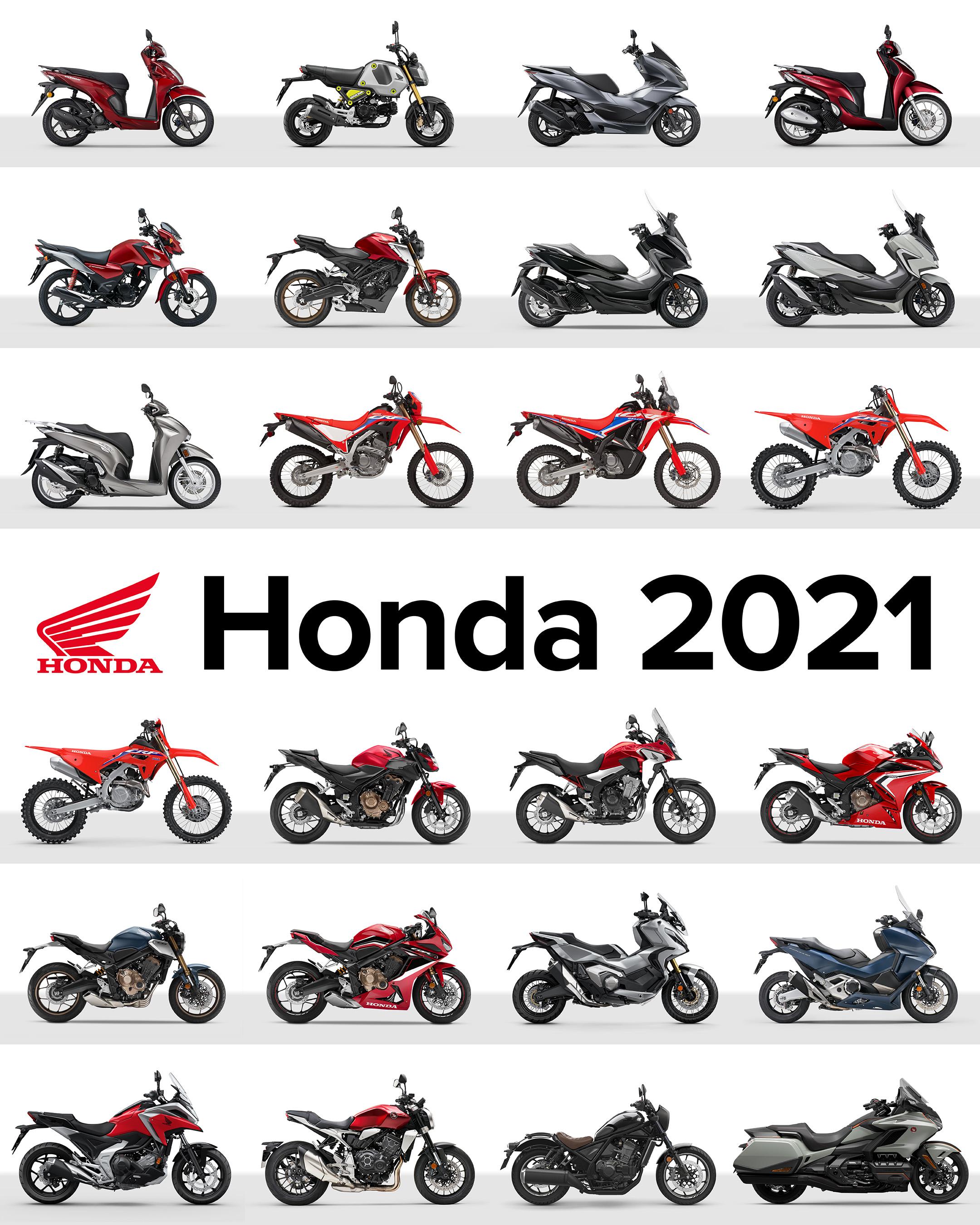Honda Moto: Νέος Τιμοκατάλογος και Αναβαθμισμένη Γκάμα Μοτοσυκλετών 2021