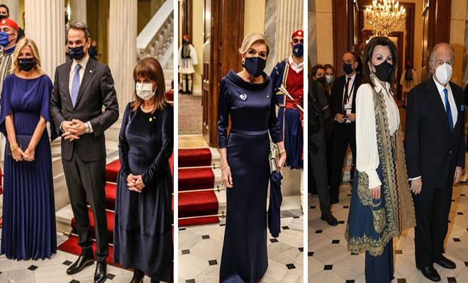 Εντυπωσιακές εμφανίσεις στο Προεδρικό Μέγαρο – Οι προσκεκλημένοι έλαμψαν μέσα τα πανάκριβα ρούχα τους