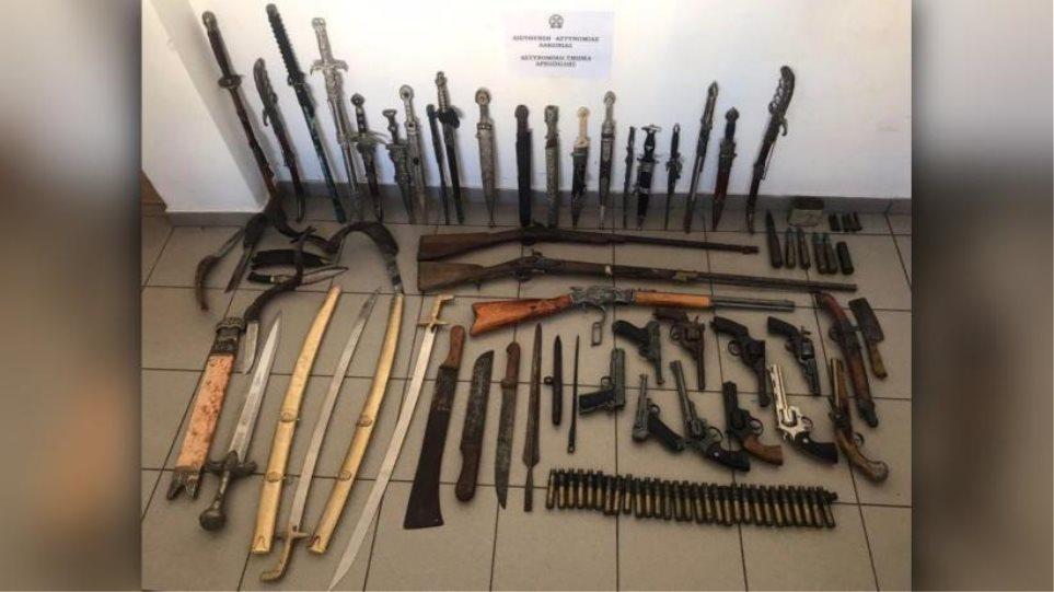 Αρεόπολη: Μεγάλο οπλοστάσιο σε σπίτι φυλακισμένου