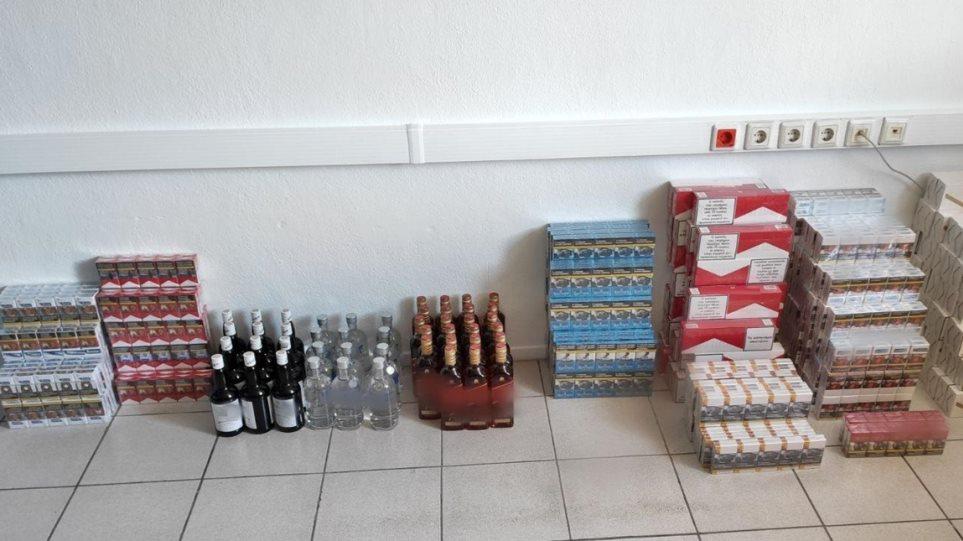 Κατερίνη: Εξάρθρωσαν λαθρεμπόριο ποτών και τσιγάρων