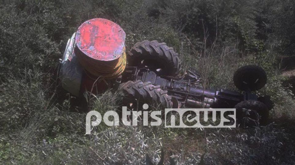 Τραγωδία στη Ζαχάρω: Νεκρός 67χρονος που καταπλακώθηκε από το τρακτέρ του