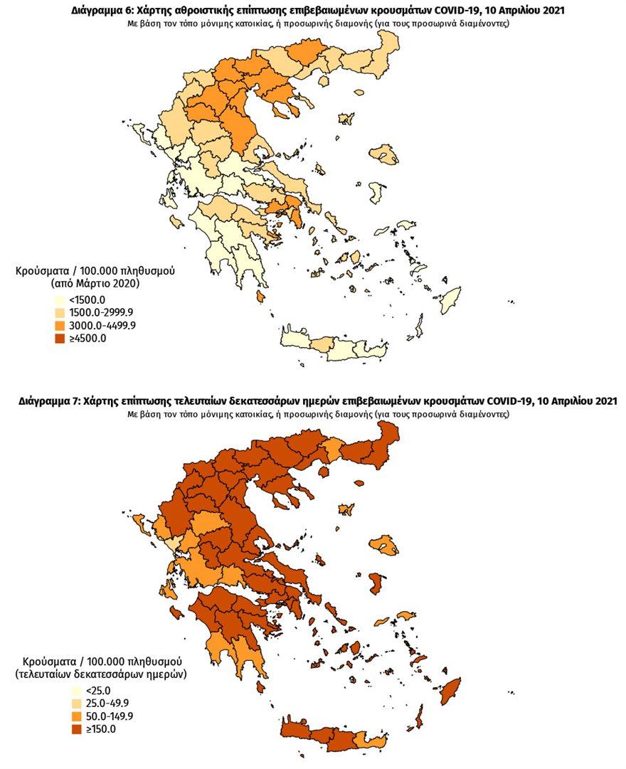 Κορωνοϊός: Στο «βαθύ κόκκινο» η διασπορά σε Θεσσαλονίκη, κέντρο Αθήνας και Πειραιά