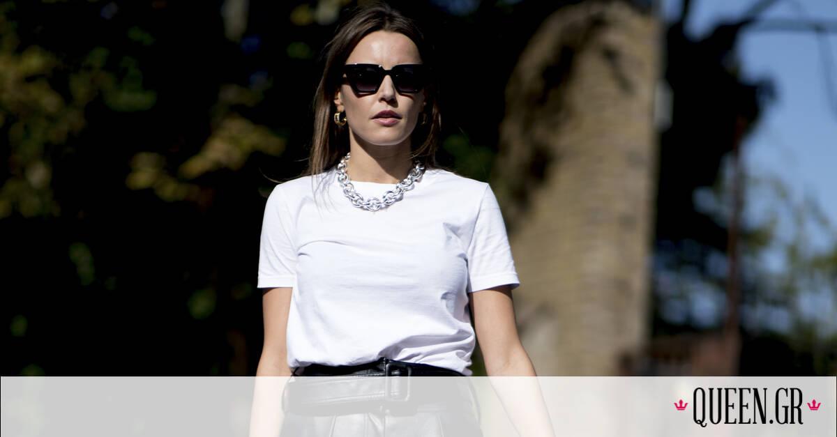 Πέντε τρόποι για να φορέσεις το λευκό σου T-shirt το 2021