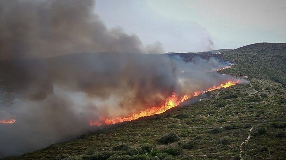 Άνδρος:  «Θα βάλω φωτιά» είχε απειλήσει πρόεδρος κοινότητας διαφωνώντας με τους δασικούς χάρτες
