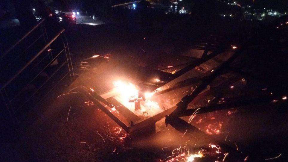 Βόλος: Εμπρηστές πυρπόλησαν πυροφυλάκιο σε άλσος