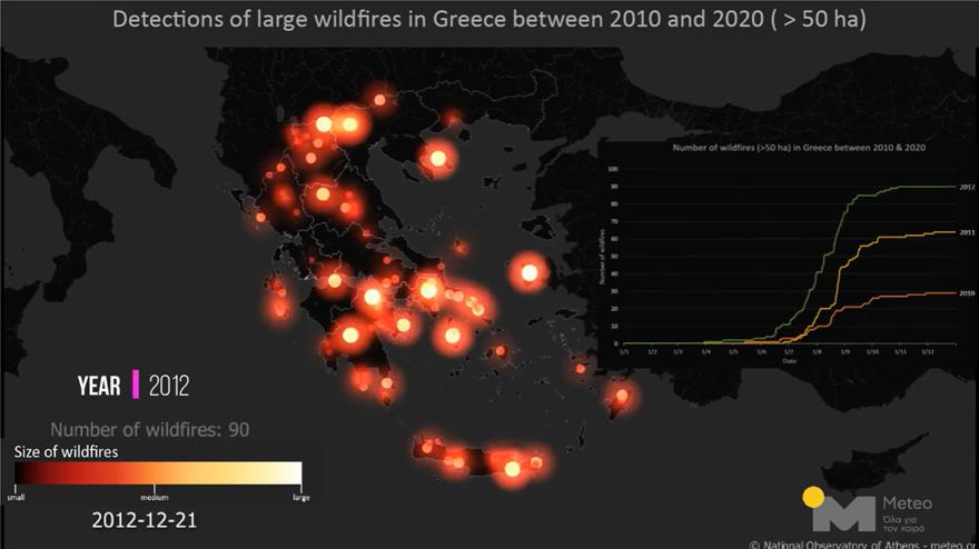 Βίντεο του meteo: Οι δασικές πυρκαγιές στην Ελλάδα από το 2000 – 8 εκατομμύρια καμένα στρέμματα