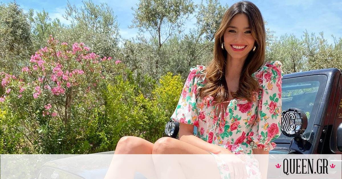 5 mini floral φορέματα για να αντιγράψεις την καλοκαιρινή εμφάνιση της Ηλιάνας Παπαγεωργίου