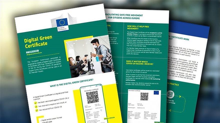Πράσινο πιστοποιητικό: «Διαβατήριο ελευθερίας» για κοινωνία, οικονομία, τουρισμό