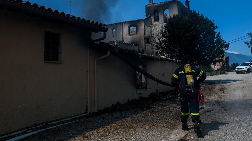 Φωτιά στο Σχίνο: Πολυάριθμες εστίες στα καμμένα- Μάχη με τις αναζωπυρώσεις