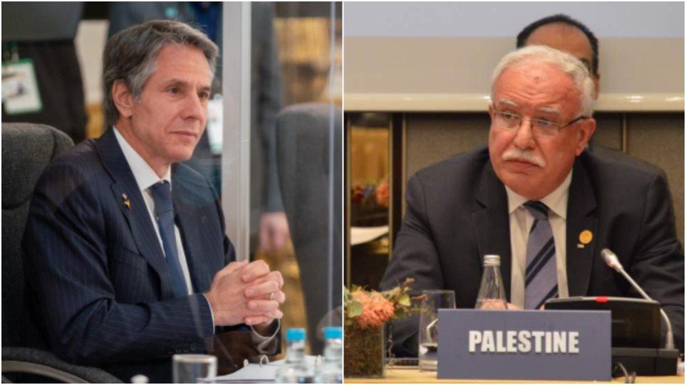 Μπλίνκεν σε Αμπάς: «Σταματήστε τις εκτοξεύσεις ρουκετών εναντίον του Ισραήλ»