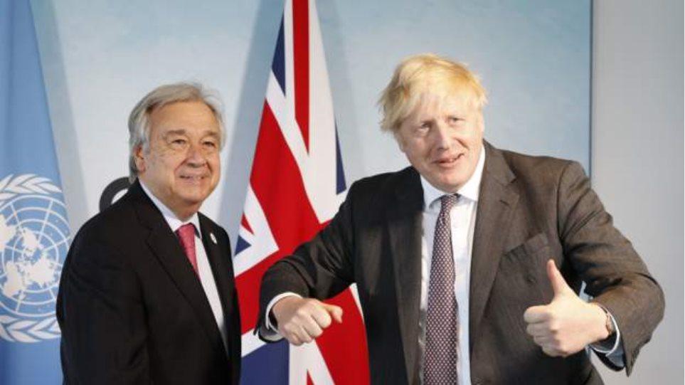 G7: Γκουτέρες-Τζονσον συνομίλησαν για το Κυπριακό
