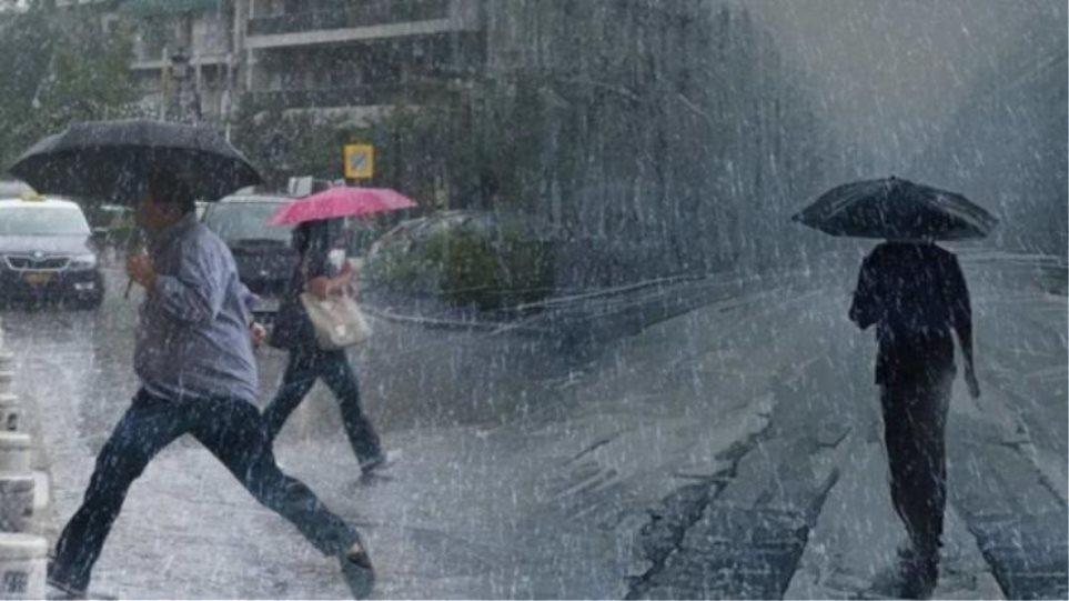Κακοκαιρία: Σε Βοιωτία, Αττική και Αρκαδία οι ισχυρότερες νεροποντές – Βροχές και την Κυριακή