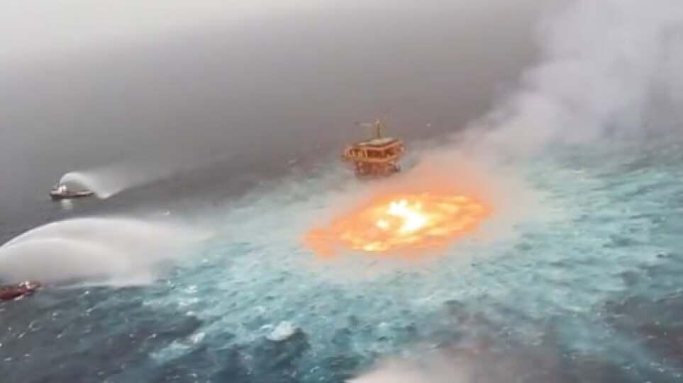 «Πύρινο μάτι»: Κατασβέστηκε πυρκαγιά στην επιφάνεια του ωκεανού στο Μεξικό