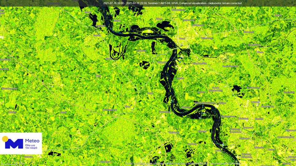 Βίντεο: Δορυφορικές εικόνες από τις φονικές πλημμύρες στη Δυτική Ευρώπη