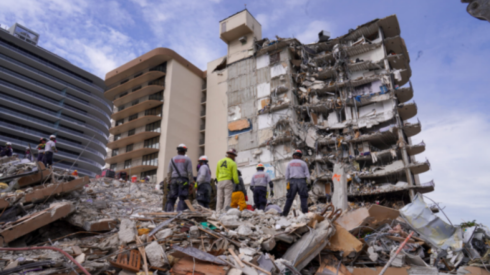 Φλόριντα: Το τμήμα του κτιρίου που παραμένει όρθιο θα κατεδαφιστεί τις επόμενες ώρες υπό το φόβο της καταιγίδας «Έλσα»