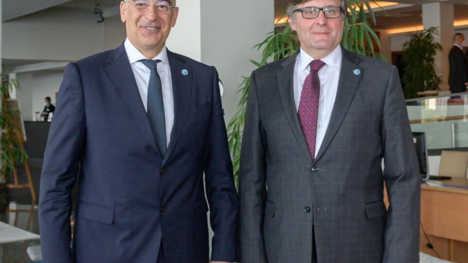 Συνάντηση Δένδια – Πάλμερ για συντονισμό δράσεων ΕΕ – ΗΠΑ στην Ανατολική Μεσόγειο