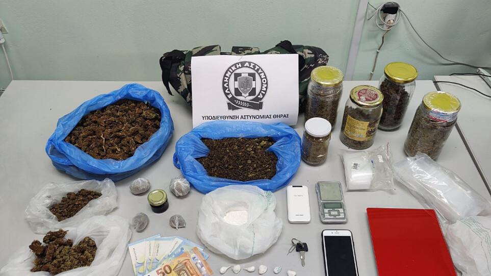 Με κλεμμένη μηχανή διακινούσε κοκαΐνη και χασίς στη Σαντορίνη