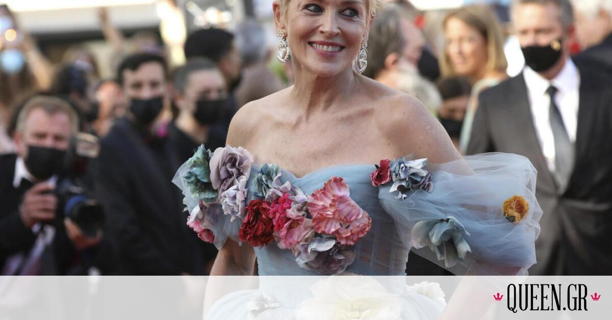 Φεστιβάλ Καννών: Η ανατρεπτική εμφάνιση της Sharon Stone με 3D τούλινο φόρεμα