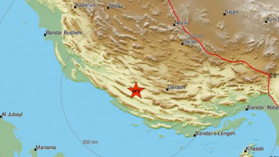 Σεισμός τώρα 4,9 Ρίχτερ στο νότιο Ιράν