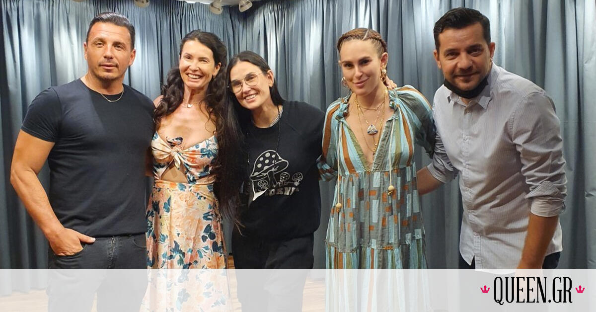 Η Demi Moore βρίσκεται στην Ελλάδα! Η επίσκεψη στην μπουτίκ των MI-RŌ