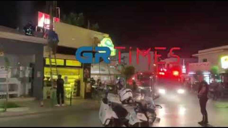 Θεσσαλονίκη: Φωτιά σε ψητοπωλείο στον Εύοσμο – Δείτε βίντεο