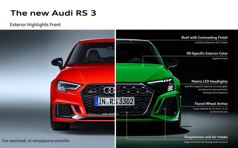 Το νέο Audi RS 3 ανεβάζει την αδρεναλίνη