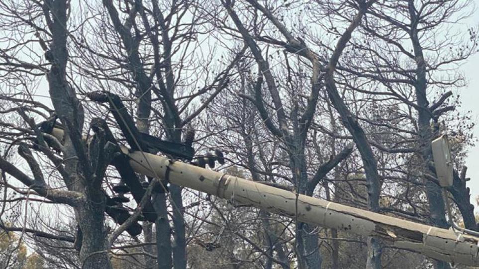 ΔΕΔΔΗΕ: «Μάχη» των συνεργείων για την ηλεκτροδότηση σε Βαρυμπόμπη – Εύβοια